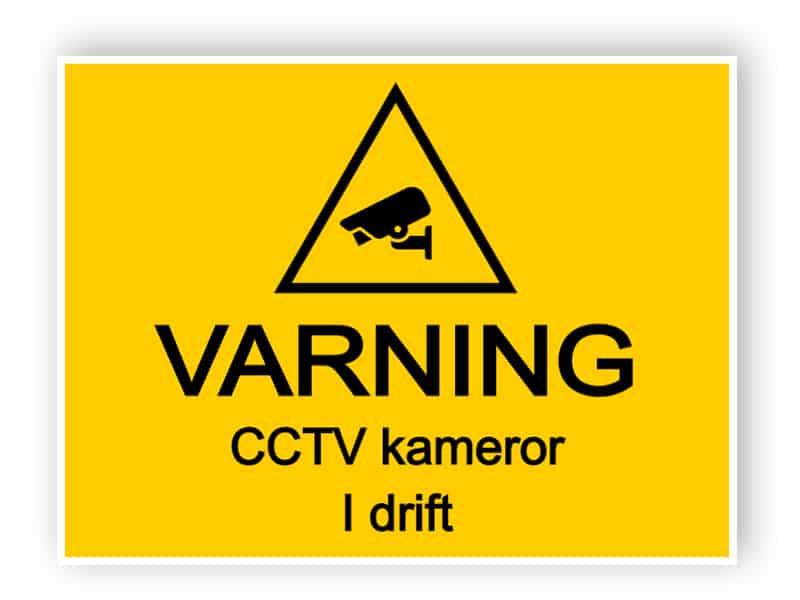 CCTV-skylt - CCTV-kameror i drift