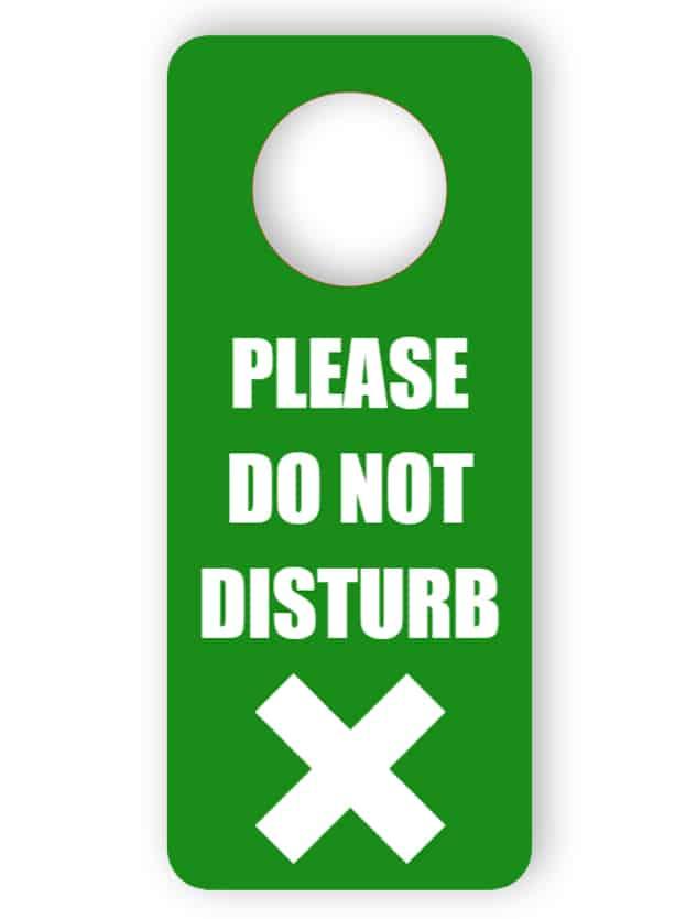 Stör inte i dörrhängaren - grön