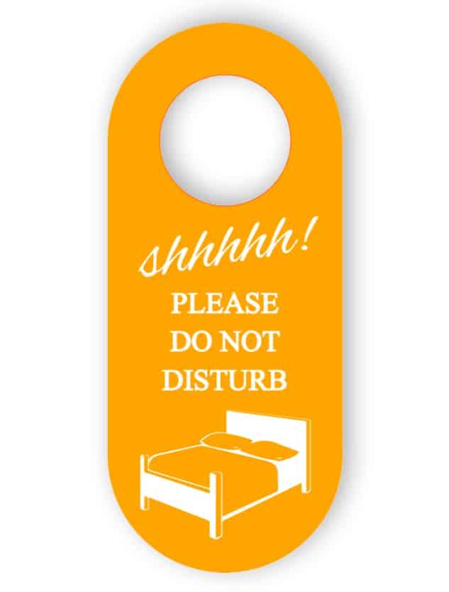 Stör inte i dörrhängaren - orange