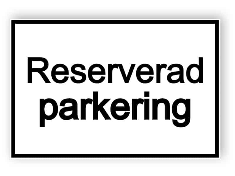 Reserverad parkering