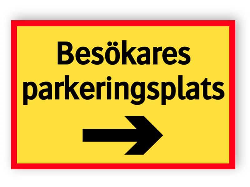 Besökares parkeringsplats