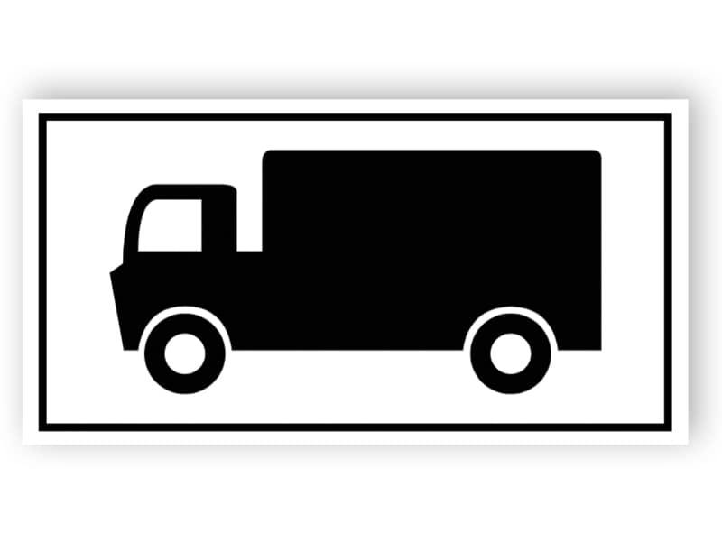 Parkering för lastbilar tecken