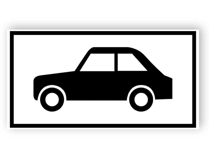 Parkering för fordon sign