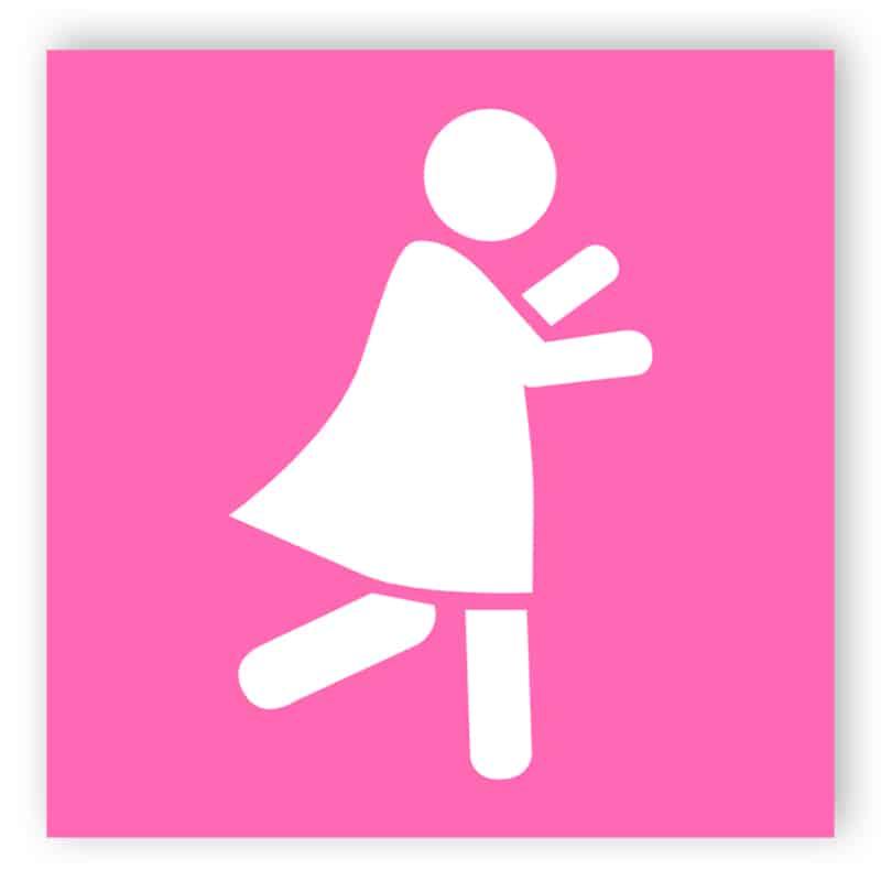 rosa kvinna