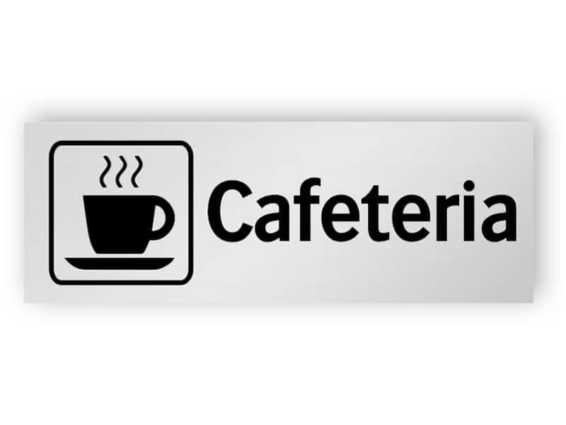 Cafeteria skylt