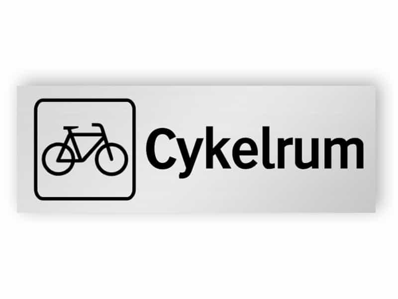 Cykelrum skylt