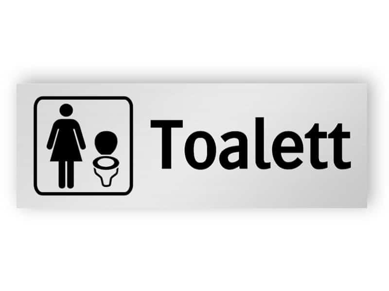 Toalett för kvinnor skylt