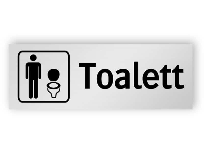 Toalett för män skylt