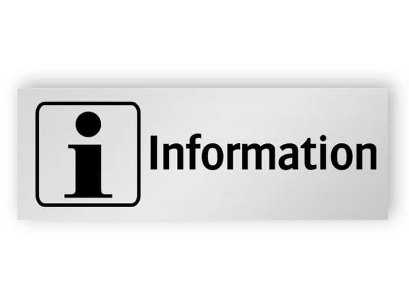 Informations skylt