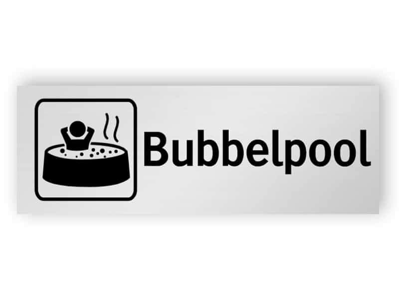 Bubbelpool skylt