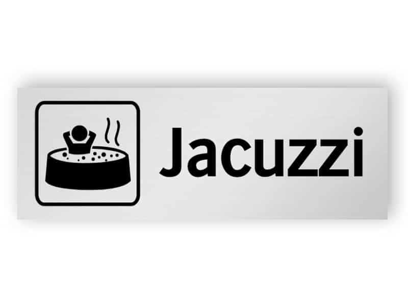 Jacuzzi skylt
