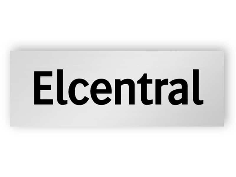 Elcentral skylt