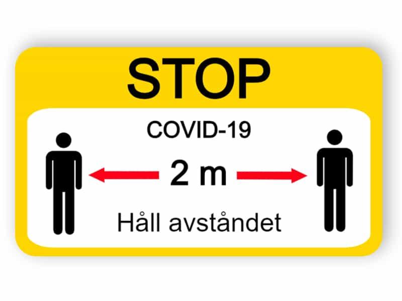 Håll avståndet - klistermärke
