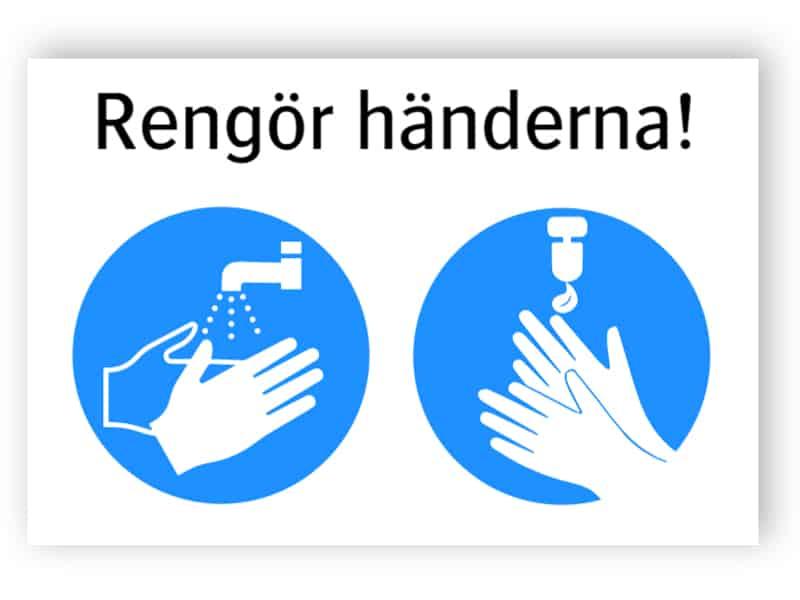 Rengör händerna