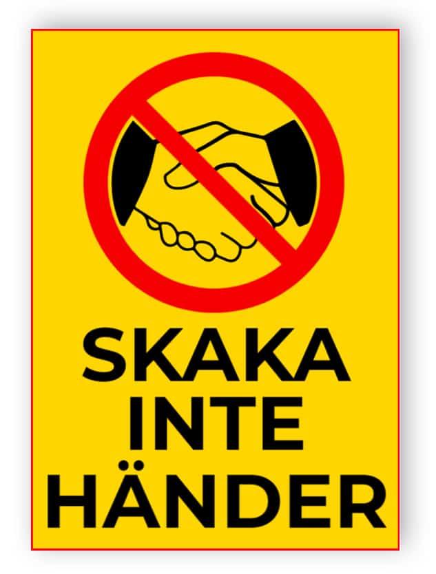 Skaka inte händer - klistermärke