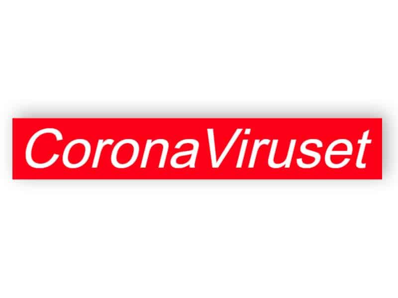 CoronaViruset - klistermärke