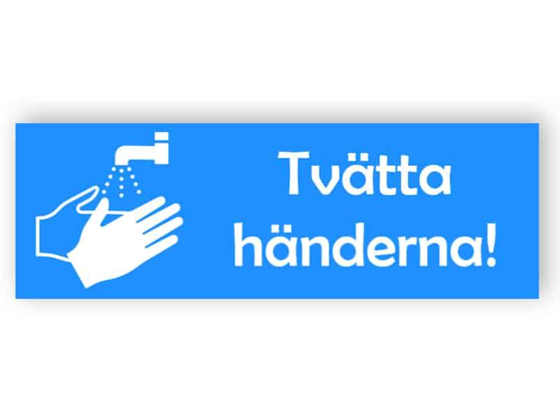 Tvätta händerna! - klistermärke