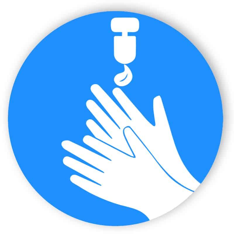 Handrensare - klistermärke