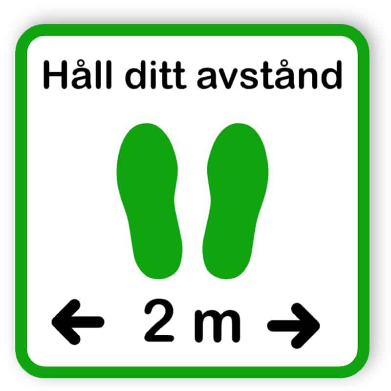 Håll ditt avstånd - klistermärke