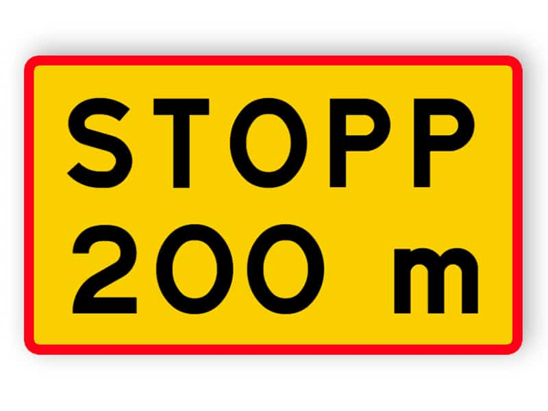 Avstånd till stopplikt
