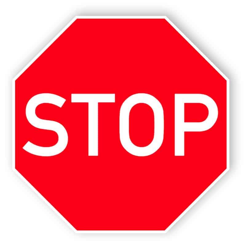Stopp skylt