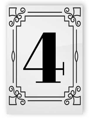 Tabellnummer med träställ