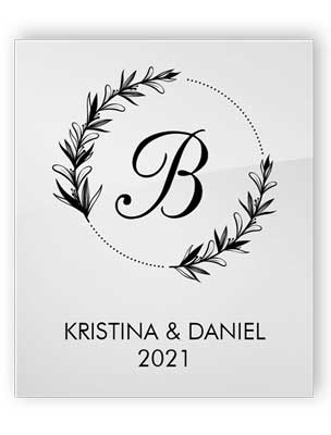 Personifierat akrylbröllopsskylt