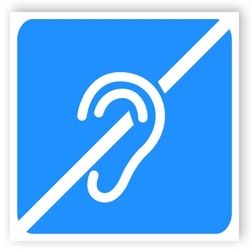Funktionshindrade tecken - hörselnedsättning