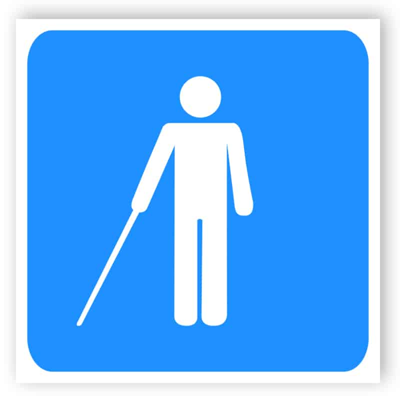 Handikapp sign - Blind