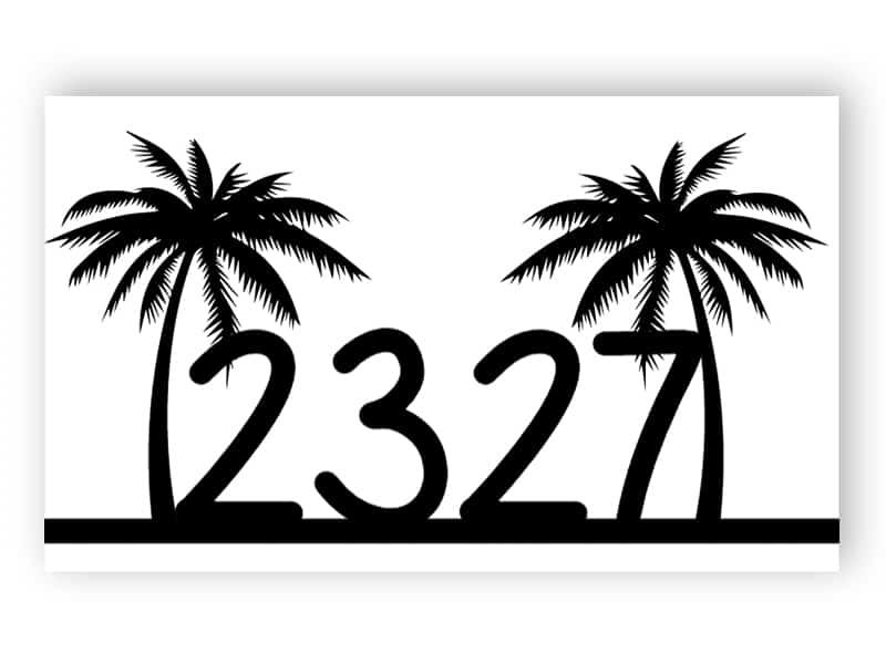 Husnummer med handflator