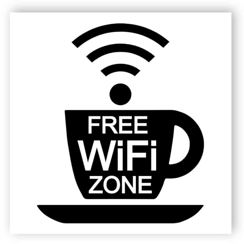 Wi-Fi-zon - cup klistermärke