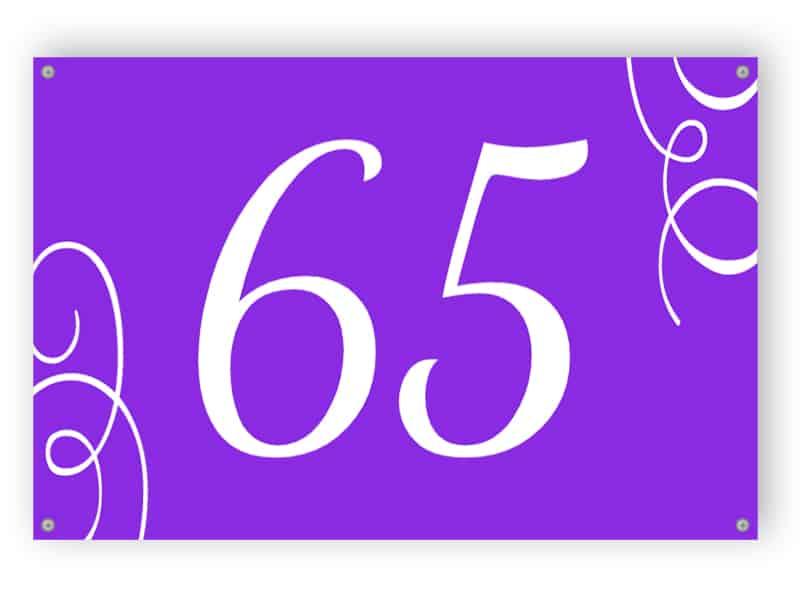 Lila huset nummertecken